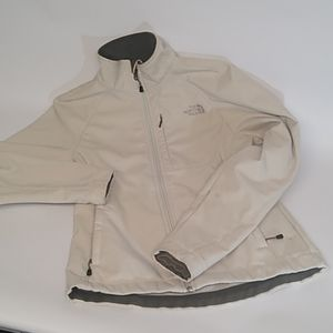 Ladies white great condition North Face jacket